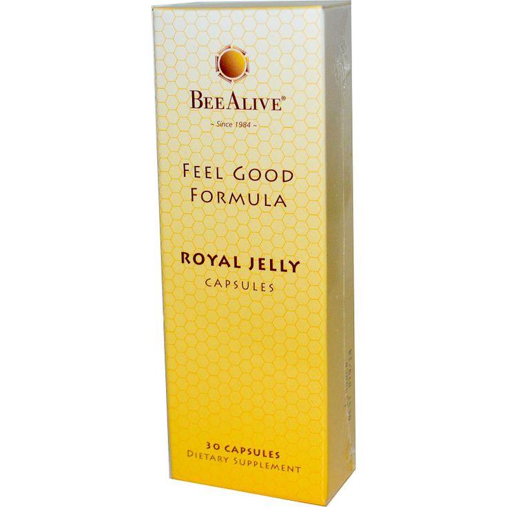 Bee Alive, Inc., Feel Good Formula, Royal Jelly Capsules, 30 Capsules - iHerb.com