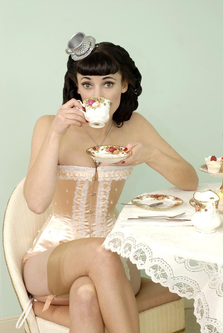 high tea hat...and corset!