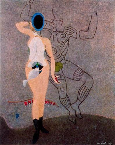 Ernst - the Return of the Beautiful Gardener (Homage to Women), 1967