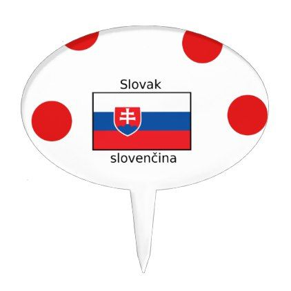 Slovak Language And Slovakia Flag Design Cake Topper - decor gifts diy home & living cyo giftidea