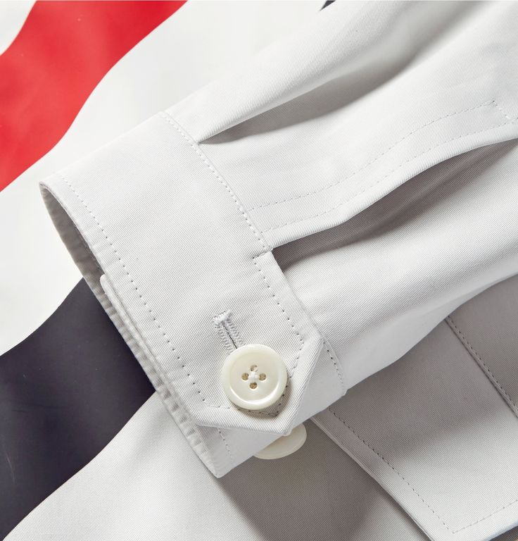What this <a href='http://www.mrporter.com/mens/Designers/Thom_Browne'>Thom Browne</a> jacket lacks in subtlety, it makes up for in precise workmanship. It has been crafted in Italy from white cotton-twill and emblazoned with rubberised stripes - the label's unmistakable trademark - across the front and along the internal seams. Keep your look smart with a plain shirt and pressed trousers.