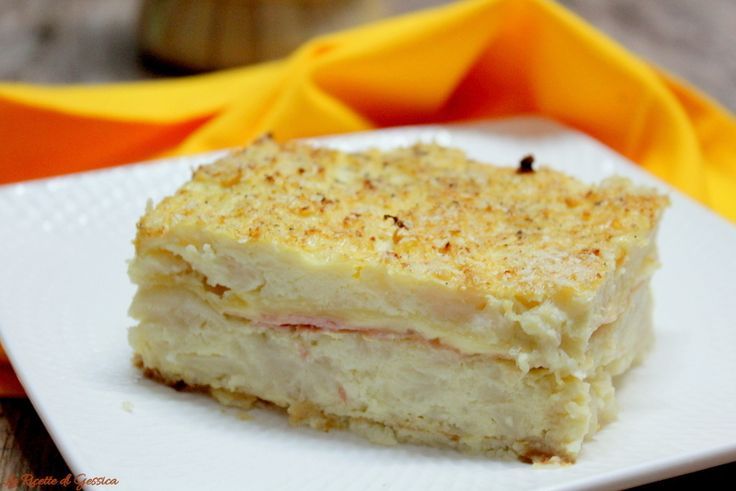 Tortino di cavolfiore - Sformato di cavolo bianco con prosciutto cotto e formaggio filante.