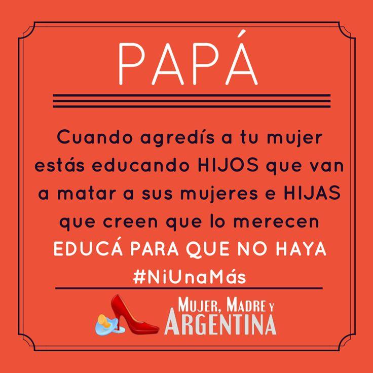 Femicidios en Argentina.  #NiUnaMás #MaternidadVerdad #Papá #Maternidad