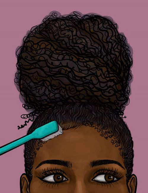 Doing Natural Hair Clipart