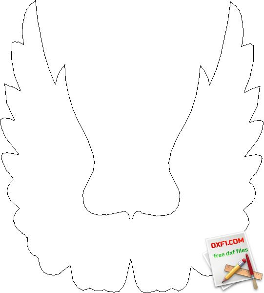 Wings #2 - FREE DXF FILES. FREE CAD SOFTWARE - DXF1.com