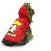 SPRING & AUTUMN MY DOG RED RAINCOAT