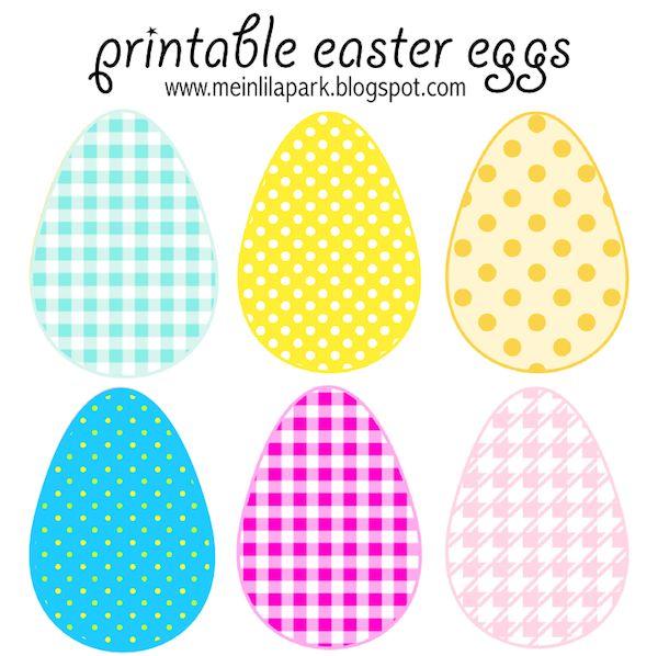Free printable cheerfully colored Easter Eggs - ausdruckbare Ostereier - freebie