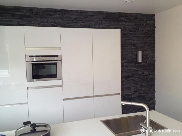 25 beste idee n over witte hoogglans keuken op pinterest modern keukenontwerp eetkeuken en - Keuken rode en grijze muur ...