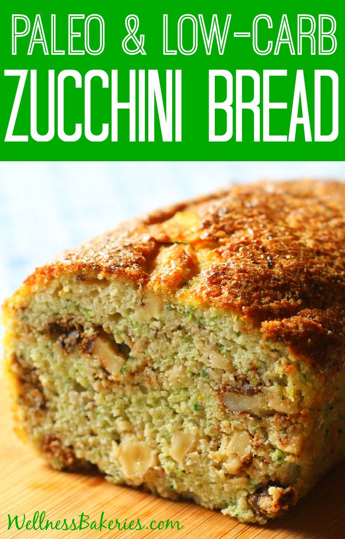 Low Carb Paleo Zucchini Bread (with Just 1 Gram of Sugar!)