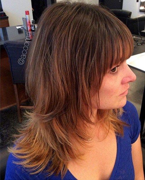 medium shag haircut for thin hair