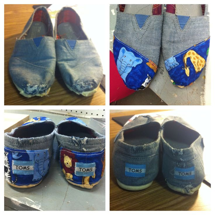 How to Fix Ripped/old Toms (this is perfect for me because this is the exact pair I have that are gross and wrecked!)