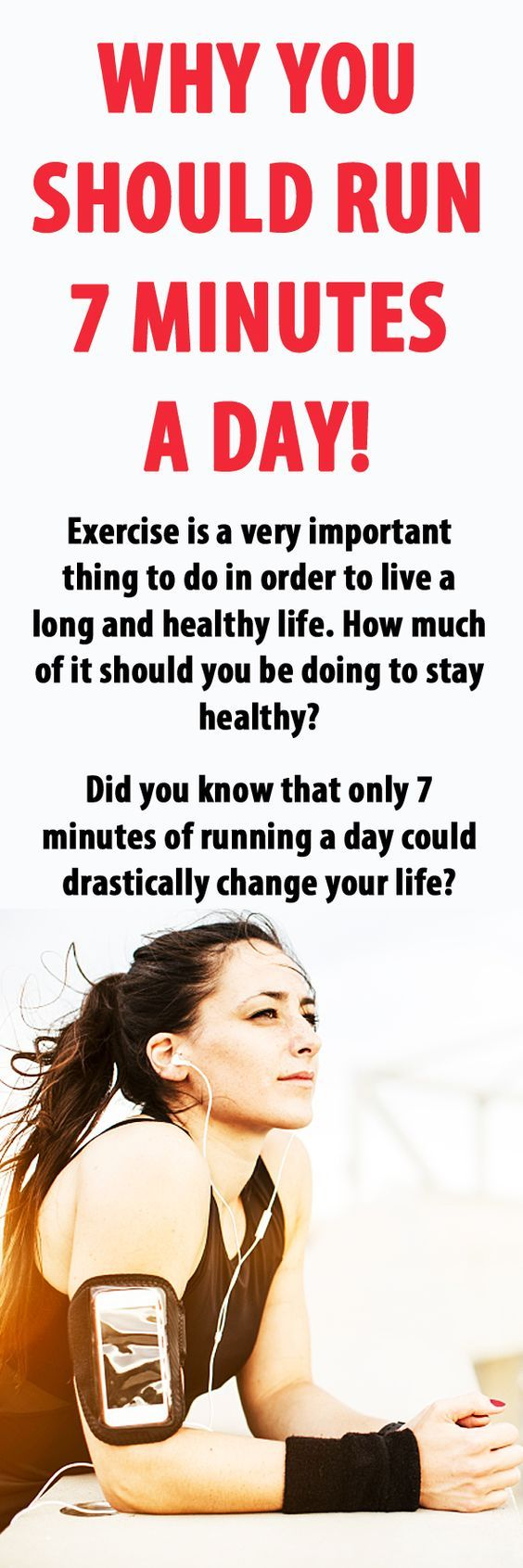 This is why you should run 7 minutes a day! #running #health #fitness #healthylifestyle