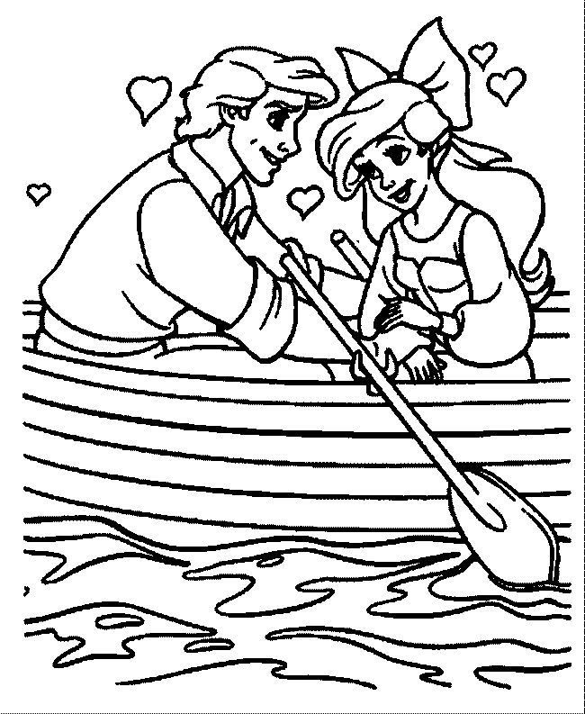 50 best Little Mermaid Coloring Pages images on Pinterest