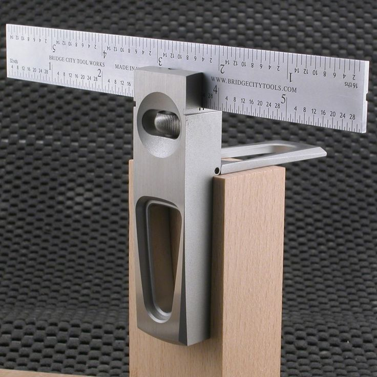 "Made of machined stainless steel, the DSS-6 6"" Double Saddle Square is a must have. Double Squares are very practical on their own, but this one has a built in Saddle Square for transferring lines around and outside corners. #woodworking #bridgecitytools"