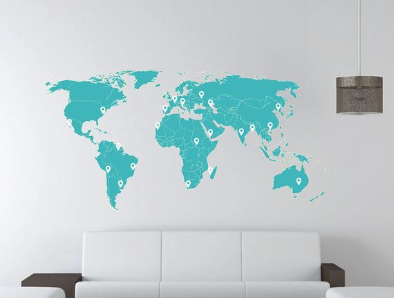 46 Best Images About Wall Map Wallpaper On Pinterest