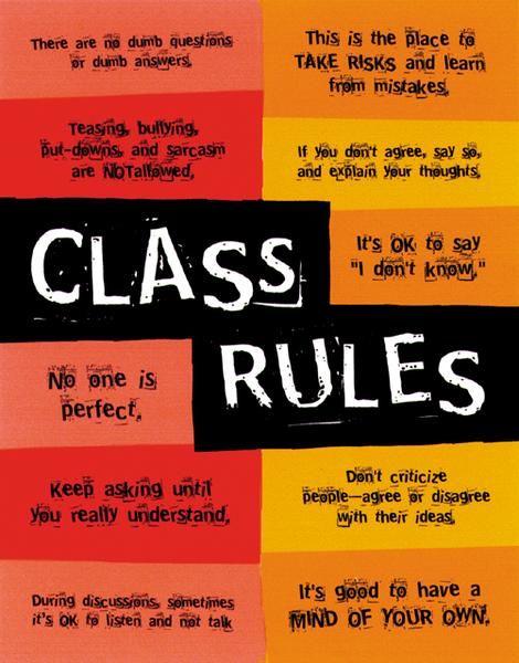 High School Classroom Rules | ... class rules expectations the text book mythology roman culture class