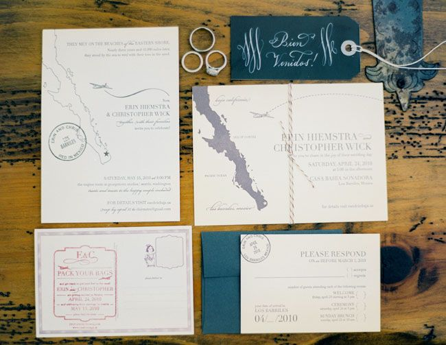 Mexico Destination Wedding Invitations: 17 Best Images About Tropical Invitations & Stationery On