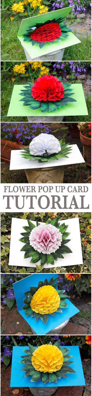 母の日に色紙や画用紙を使って、ゴージャスな飛び出すカーネーションカードを作ろう☆PDFの型紙を印刷して切って組み立てるだけ!直線切りとなみなみ切りだけでOK♪切り絵より簡単だからお子さんと一緒に作れちゃいます☆