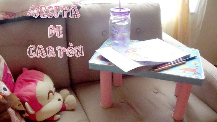 https://www.youtube.com/watch?v=U2xjC36bNiw Mesa muy práctica para poner el portátil y estar con el en la cama, hecha con cartón.