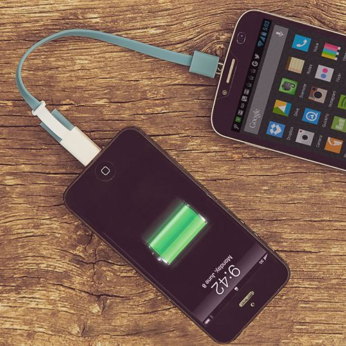 Power Share Charging Cable for Android & iPhone