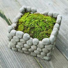Sólo €18.44 , compra Maceta de barro plantas suculentas piedra cuadrada breathab la maceta decoración del hogar del paisaje del jardín en Banggood.com. Comprar moda Macetas en línea.