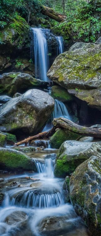 Roaring Fork Waterfalls in the Great Smoky Mountains National Park
