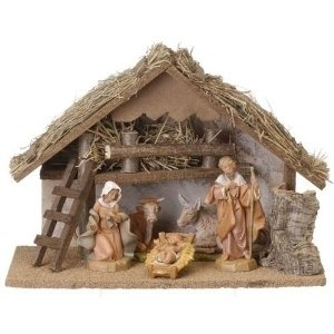 "6-Piece Fontanini 5"" Christmas Nativity Set With Italian Stable"