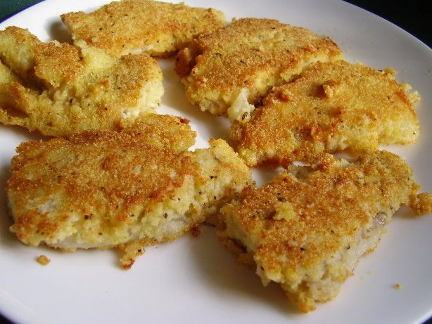 There is nothing fancy about this but if your looking for a crispy coating without any deep-frying this is about as good as it gets, If your skillet is not large enough to hold all of the fish, then transfer to a  baking sheet that has been coated with oil, only dry breadcrumbs or the coating will not adhere to the fish - cooking time is for oven only, if desired any large fish fillet can be replaced for the cod, all seasoning my be adjusted to taste
