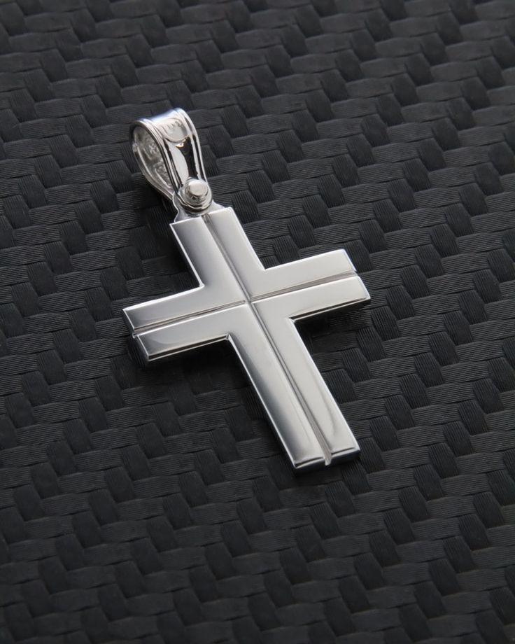Σταυρός βάπτισης λευκόχρυσος Κ14
