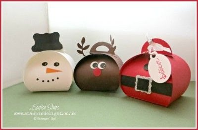 A Trio of Christmas Curvy Keepsake Box | Stampin' Delight, Louise Sims, UK Demo | Curvy Keepsake Box Die, Punch Art
