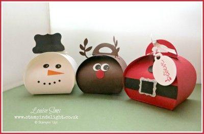 A Trio of Christmas Curvy Keepsake Box   Stampin' Delight, Louise Sims, UK Demo   Curvy Keepsake Box Die, Punch Art