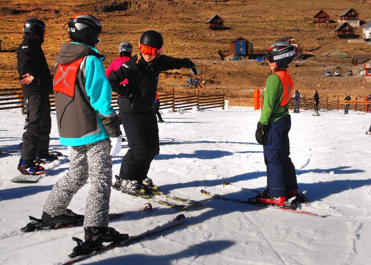 Young guests receiving expert tuition from local and international ski instructors @Afriski Mountain Resort Mountain Resort.