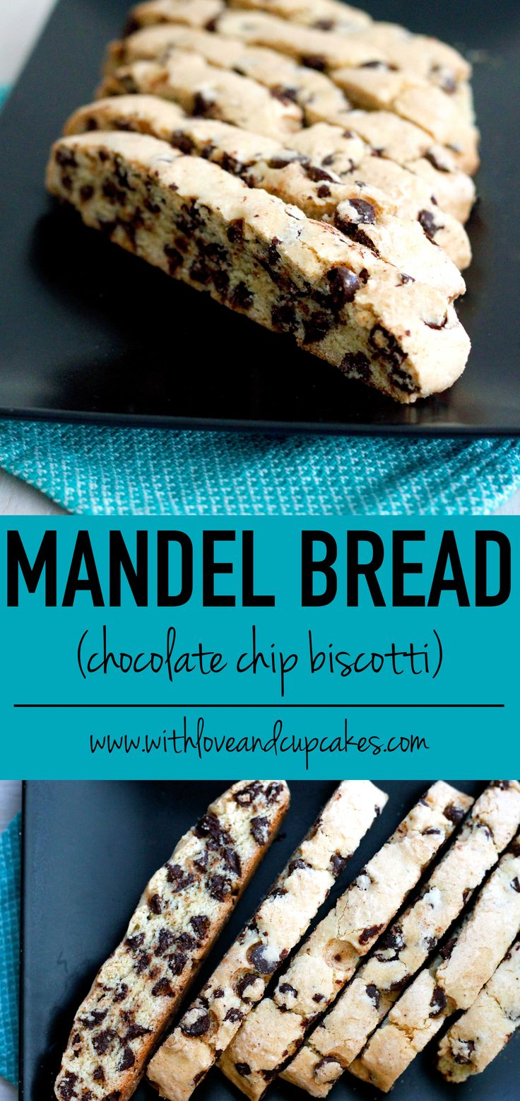 mandel bread (chocolate chip biscotti) | withloveandcupcakes.com