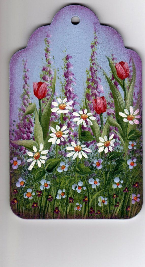 Spring Garden Painting Pattern Packet DawksartEtsy by DawksArt, $6.50