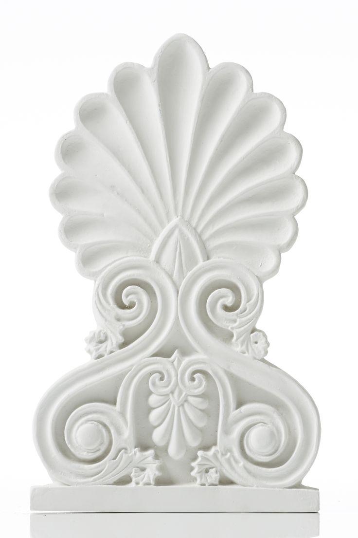 Akrokeramo Wall Medium. Dimension: 26x16x1,5cm Material: Ceramine. Color: White.