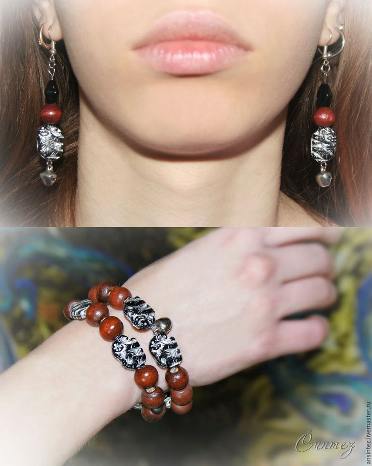 "Buy jewelry ""the Sounds of India - elephants"" earrings and bracelets - bangle bracelets"