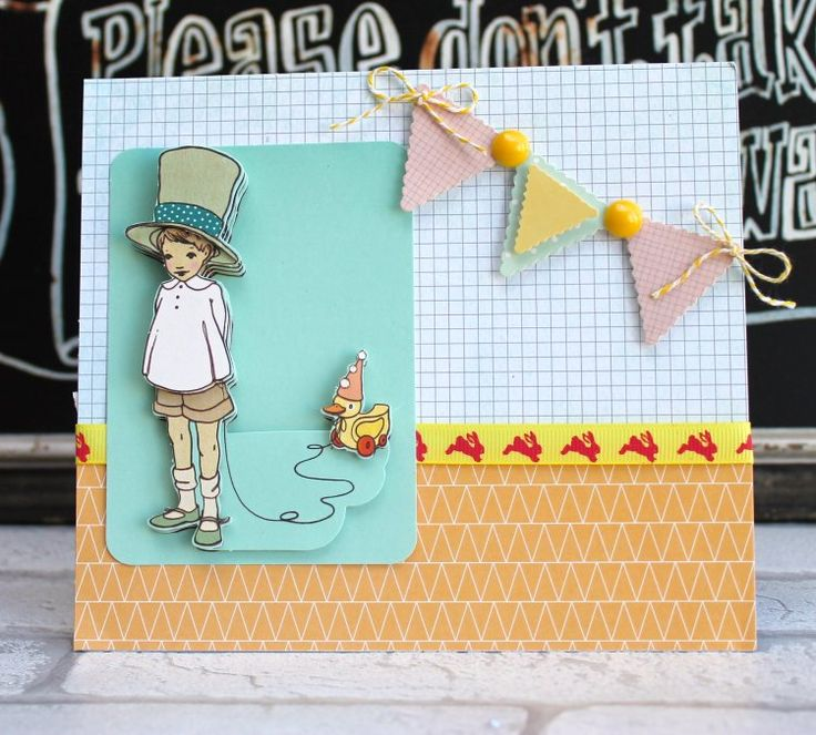Belle & Boo Bunting Card by Katie Skilton