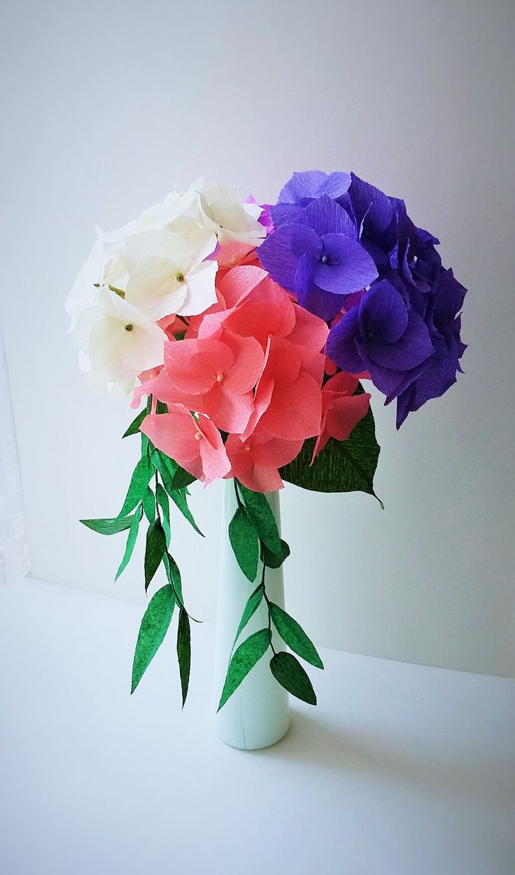 Romantic Crepe Paper Hydrangea Centerpiece − handmade by Ameli's Lovely…