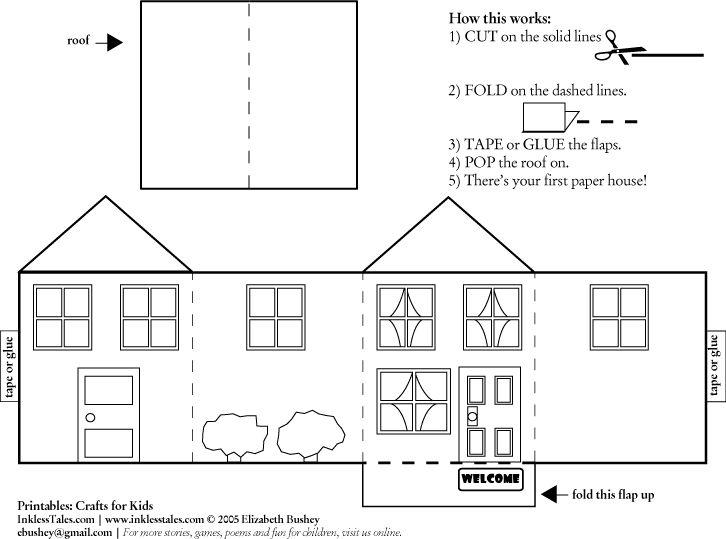 Casas de papel para armar para maquetas