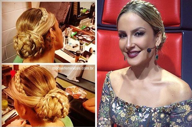 "Trança da Claudia Leitte ""The Voice Brasil"" 19 de Dez 2013 - Braid, bridal hair | http://modaefeminices.com.br/2013/12/19/look-claudia-leitte-the-voice-brasil-19-de-dez/"
