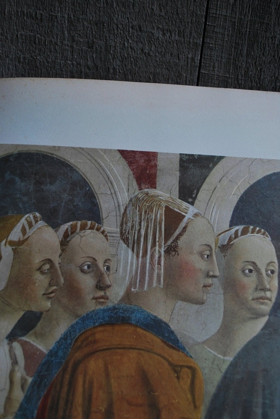 This folio of Piero della Francesca's fresoces was published in 1949 and is available at vagabondmerchant.etsy.com