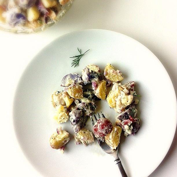 #Vegan Tater Salad from @skinnyjeans for #DailyFoodieTater Salad, Vegan Tater
