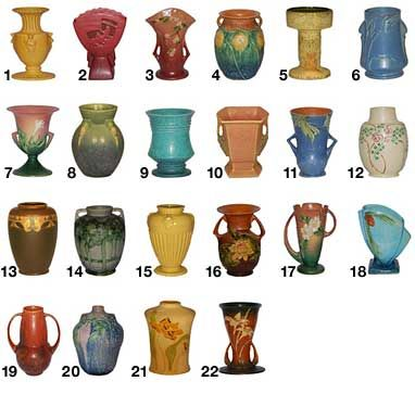 Roseville Pottery Patterns, S-Z                                                                                                                                                     More