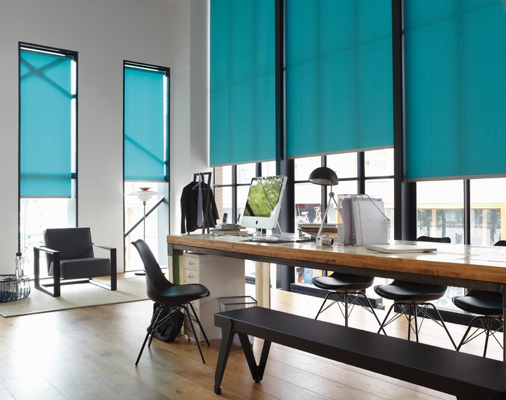 Blue Statement Blinds!     Did you know that Luxaflex® blinds with topar® reflect up to 68% of sunlight? That makes Topar® a great choice for keeping your home cool throughout the summer.