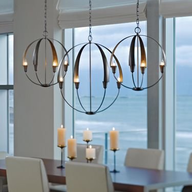 Cirque Chandelier, as seen in July's Interior Design Magazine. http://www.lumens.com/Cirque-Chandelier-by-Hubbardton-Forge/uu505290/product: Cirque Chandelier, Dining Rooms, Interior, Lighting, Chandeliers, Hubbardton Forge, Design, Hubbardtonforge