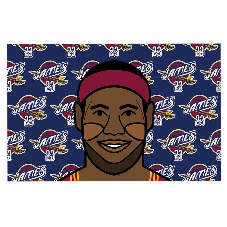 "Will Wild ""Lebron James"" Basketball Decorative Door Mat"