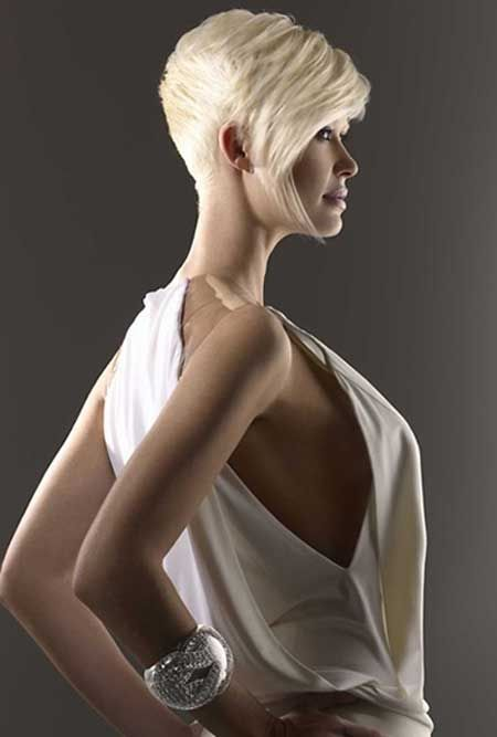 Good short blonde hairstyle