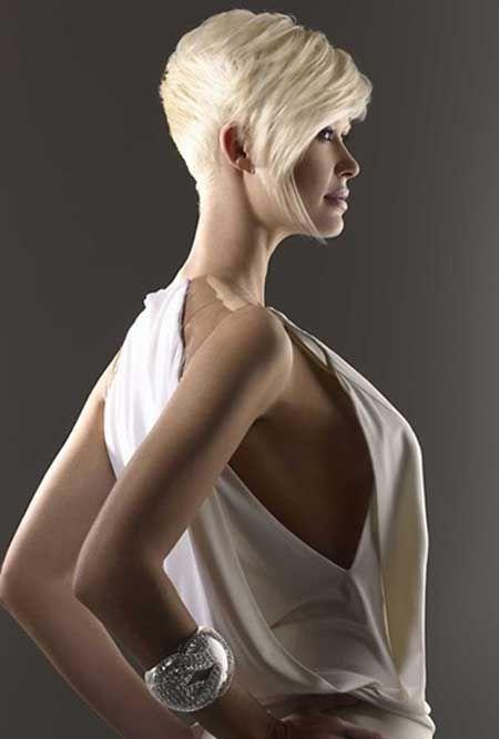Good short blonde hairstyle