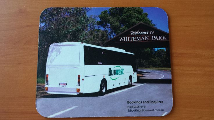 Full colour printed mouse mat for Buswest