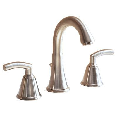 American Standard Tropic Widespread Bathroom Faucet with Double Lever Handles Finish: Satin Nickel